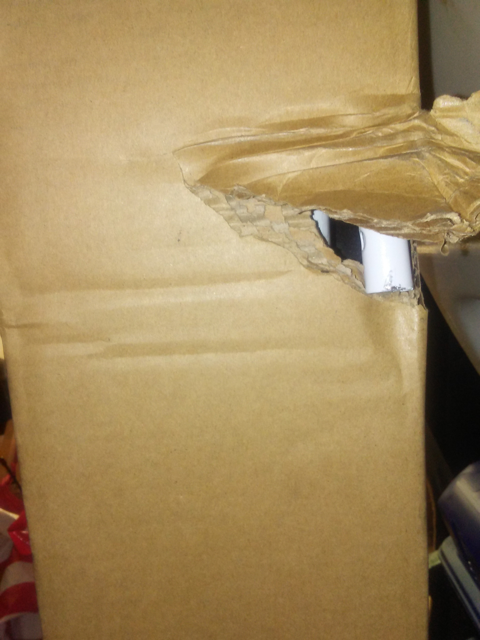 Damaged box from shippers.